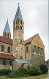 我们的夫人教会在哈尔贝尔斯塔特,德国 免版税库存照片