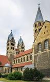 我们的夫人教会在哈尔贝尔斯塔特,德国 库存照片