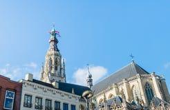我们的夫人教会的塔,布雷达,荷兰 库存照片