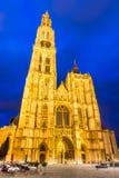我们的夫人教会,安特卫普,比利时 免版税库存照片