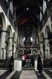 我们的夫人教会在布鲁日,比利时 库存图片
