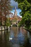我们的夫人教会,布鲁日,比利时 库存图片