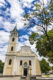 我们的夫人诞生的教会在Michalovce,斯洛伐克 库存照片