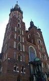 我们的夫人Assumed教会到天堂(或圣玛丽的大教堂里)在克拉科夫,波兰 免版税库存图片