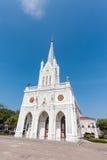 我们的夫人Cathedral和蓝天诞生  免版税库存照片