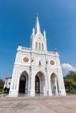 我们的夫人Cathedral和蓝天诞生  免版税库存图片