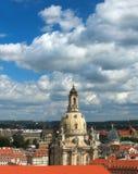 我们的夫人Frauenkirche Hurch在德累斯顿 免版税库存图片