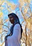 我们的夫人OF PEACE WOODEN STATUE,圣菲 免版税库存图片