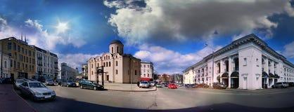 我们的夫人Pirogoschi的Dormition教会  免版税库存照片
