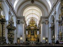 我们的夫人Victorious,布拉格教会  图库摄影
