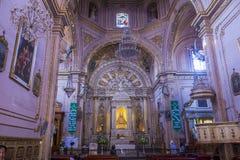 我们的孑然的夫人大教堂在瓦哈卡墨西哥 免版税库存图片