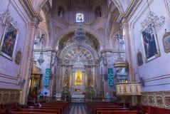 我们的孑然的夫人大教堂在瓦哈卡墨西哥 库存照片