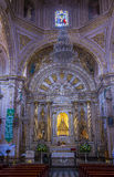我们的孑然的夫人大教堂在瓦哈卡墨西哥 图库摄影
