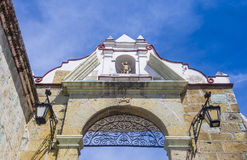 我们的孑然的夫人大教堂在瓦哈卡墨西哥 免版税库存照片