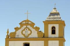 我们的帮助的夫人教会在Arraial d'Ajuda巴伊亚的 库存图片
