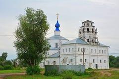 我们的斯摩棱斯克Korniliyevskaya的夫人教会在Pereslavl-Zalessky,俄罗斯 免版税库存图片