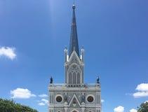 我们的有天空的Cathedral夫人教会诞生  库存照片
