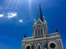 我们的有天空的Cathedral夫人教会诞生  库存图片