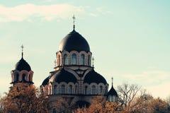 我们的标志教会的夫人在维尔纽斯,立陶宛 图库摄影