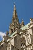 我们的沙特尔(Cathedralee Notre Dame de查家的夫人大教堂  库存图片