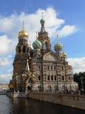 我们的溢出的血液的救主,圣彼德堡,俄罗斯教会  库存图片