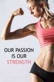 我们的激情是我们的力量 库存照片