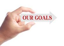 我们的目标概念 库存照片