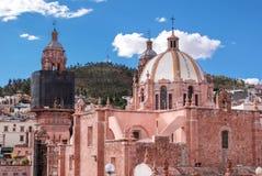 我们的萨卡特卡斯州,墨西哥的做法的夫人大教堂  免版税库存图片