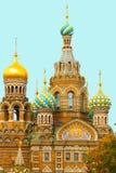 我们的血液的救主大教堂在圣彼得堡 免版税库存照片