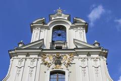 我们的阁下克拉科夫,波兰的变貌的Piarist教会 库存照片