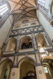 我们的雪的夫人教会的内部在布拉格 库存照片