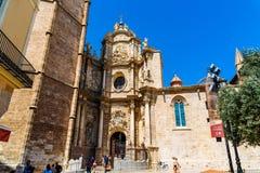 我们的巴伦西亚的夫人的做法的大城市大教堂大教堂 免版税库存图片