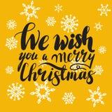 我们祝愿您圣诞快乐手字法习惯手工制造书法,传染媒介eps10 图库摄影