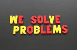 我们解决问题 免版税库存图片