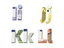 我;j;k;l信件 免版税库存图片