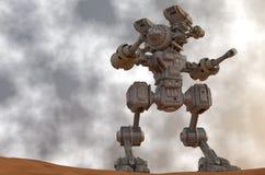 戒备的机械战士 免版税库存照片