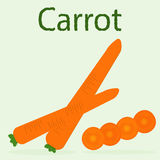 戒毒所菜单的红萝卜 削减红萝卜圆环  库存照片