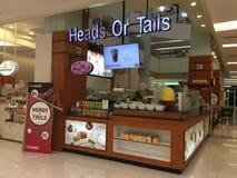 头或尾巴餐馆在泰国 图库摄影