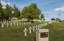 战争公墓在Chatillon苏尔马恩省法国 库存照片