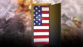 战争冲突美国 暴力战争消沉 对战争的门 5 股票视频