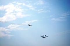 战争在泰国的飞机展示 免版税库存照片