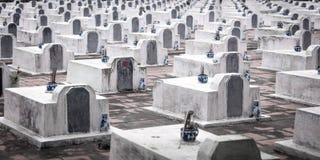 战争坟园在越南 免版税库存图片