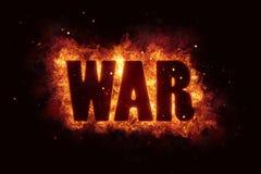 战争恐怖恐怖主义火烧伤火焰文本是爆炸 库存图片