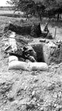 战争期间沟槽 库存图片