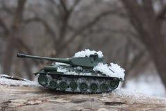 战争概念 玩具坦克 库存图片