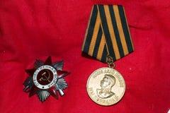 战争的奖牌 图库摄影