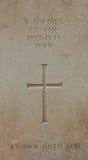 1939年- 1945战争的战士的墓碑 免版税库存照片