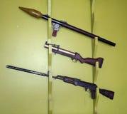 战争的选择开枪在靶场 免版税库存照片