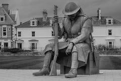 战争纪念建筑雕塑在Seaham 库存照片