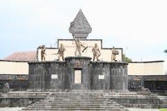 战争纪念碑在日惹 免版税库存图片